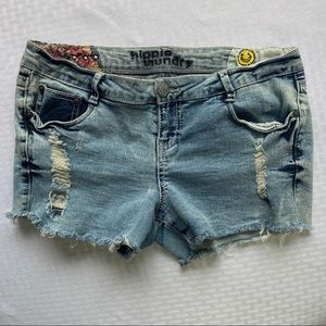 Hippie Laundry Juniors Distressed Cut Off Shorts